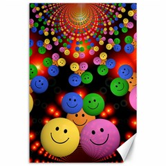 Smiley Laugh Funny Cheerful Canvas 24  x 36
