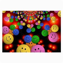 Smiley Laugh Funny Cheerful Large Glasses Cloth (2 Side)
