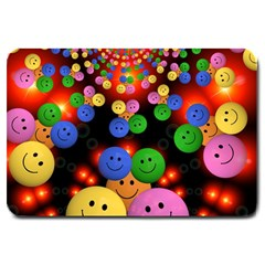 Smiley Laugh Funny Cheerful Large Doormat