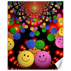 Smiley Laugh Funny Cheerful Canvas 11  x 14