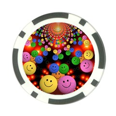 Smiley Laugh Funny Cheerful Poker Chip Card Guard