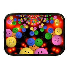 Smiley Laugh Funny Cheerful Netbook Case (Medium)