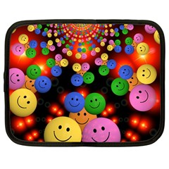 Smiley Laugh Funny Cheerful Netbook Case (Large)