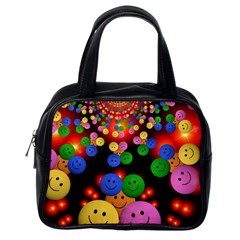 Smiley Laugh Funny Cheerful Classic Handbags (one Side)