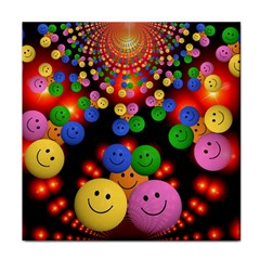 Smiley Laugh Funny Cheerful Face Towel