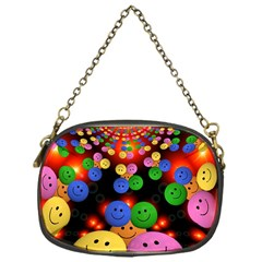Smiley Laugh Funny Cheerful Chain Purses (one Side)
