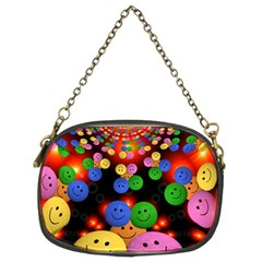 Smiley Laugh Funny Cheerful Chain Purses (two Sides)