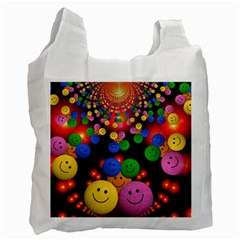 Smiley Laugh Funny Cheerful Recycle Bag (Two Side)
