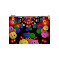 Smiley Laugh Funny Cheerful Cosmetic Bag (medium)