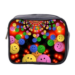 Smiley Laugh Funny Cheerful Mini Toiletries Bag 2 Side