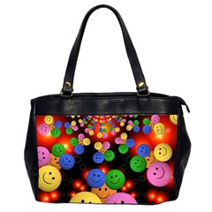 Smiley Laugh Funny Cheerful Office Handbags (2 Sides)