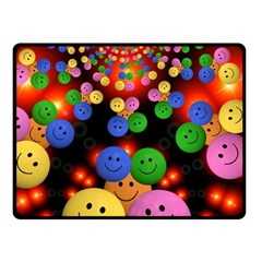 Smiley Laugh Funny Cheerful Fleece Blanket (small)