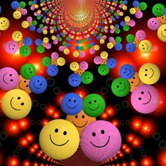 Smiley Laugh Funny Cheerful Magic Photo Cubes