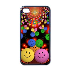 Smiley Laugh Funny Cheerful Apple Iphone 4 Case (black)