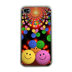 Smiley Laugh Funny Cheerful Apple Iphone 4 Case (clear)