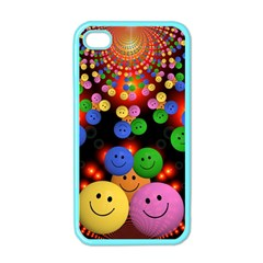 Smiley Laugh Funny Cheerful Apple Iphone 4 Case (color)