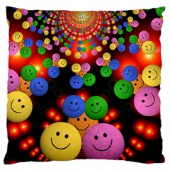 Smiley Laugh Funny Cheerful Large Cushion Case (one Side)