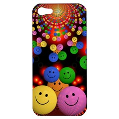 Smiley Laugh Funny Cheerful Apple Iphone 5 Hardshell Case