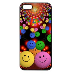 Smiley Laugh Funny Cheerful Apple Iphone 5 Seamless Case (black)