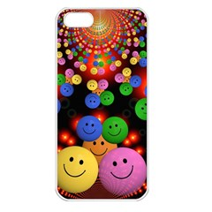 Smiley Laugh Funny Cheerful Apple Iphone 5 Seamless Case (white)