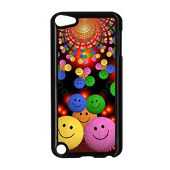 Smiley Laugh Funny Cheerful Apple iPod Touch 5 Case (Black)
