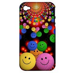 Smiley Laugh Funny Cheerful Apple iPhone 4/4S Hardshell Case (PC+Silicone)