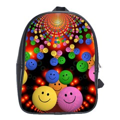 Smiley Laugh Funny Cheerful School Bags (XL)