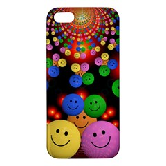 Smiley Laugh Funny Cheerful Apple Iphone 5 Premium Hardshell Case