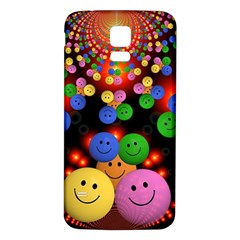 Smiley Laugh Funny Cheerful Samsung Galaxy S5 Back Case (white)