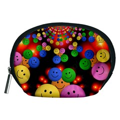 Smiley Laugh Funny Cheerful Accessory Pouches (Medium)