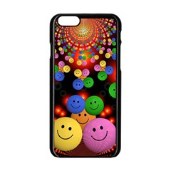 Smiley Laugh Funny Cheerful Apple Iphone 6/6s Black Enamel Case