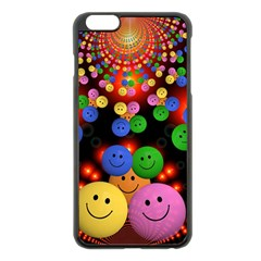 Smiley Laugh Funny Cheerful Apple Iphone 6 Plus/6s Plus Black Enamel Case