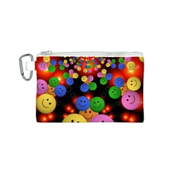 Smiley Laugh Funny Cheerful Canvas Cosmetic Bag (S)