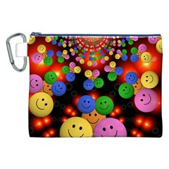 Smiley Laugh Funny Cheerful Canvas Cosmetic Bag (XXL)