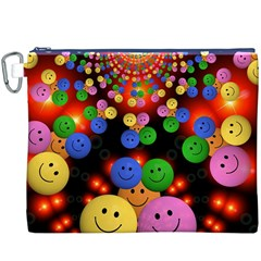Smiley Laugh Funny Cheerful Canvas Cosmetic Bag (XXXL)