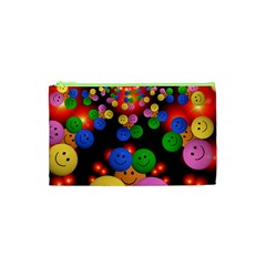 Smiley Laugh Funny Cheerful Cosmetic Bag (xs)