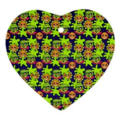 Smiley Background Smiley Grunge Ornament (heart)