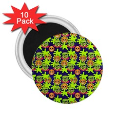 Smiley Background Smiley Grunge 2.25  Magnets (10 pack)
