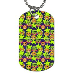 Smiley Background Smiley Grunge Dog Tag (One Side)
