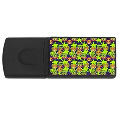 Smiley Background Smiley Grunge USB Flash Drive Rectangular (2 GB)