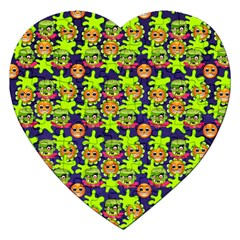 Smiley Background Smiley Grunge Jigsaw Puzzle (Heart)