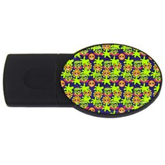 Smiley Background Smiley Grunge USB Flash Drive Oval (4 GB)
