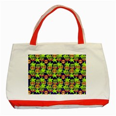 Smiley Background Smiley Grunge Classic Tote Bag (Red)