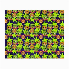 Smiley Background Smiley Grunge Small Glasses Cloth (2 Side)