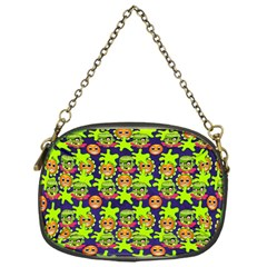 Smiley Background Smiley Grunge Chain Purses (One Side)