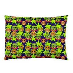 Smiley Background Smiley Grunge Pillow Case