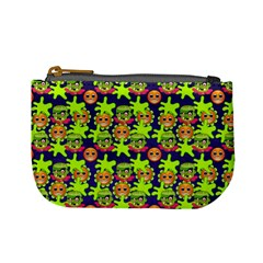 Smiley Background Smiley Grunge Mini Coin Purses