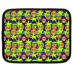 Smiley Background Smiley Grunge Netbook Case (xl)