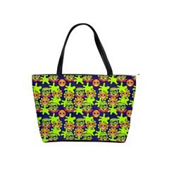 Smiley Background Smiley Grunge Shoulder Handbags