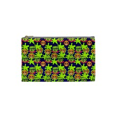 Smiley Background Smiley Grunge Cosmetic Bag (Small)